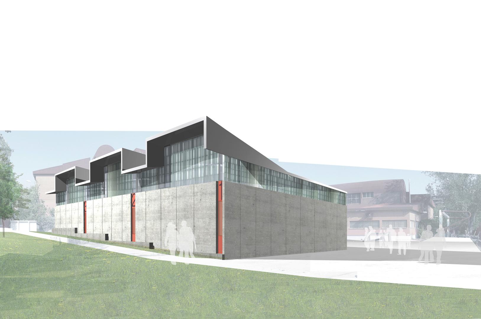 Naves para escuela taller alcorc n madrid enves for Restaurante escuela de arquitectos madrid